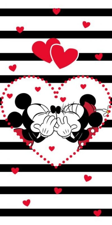 Osuška Mickey Minnie stripes 70/140